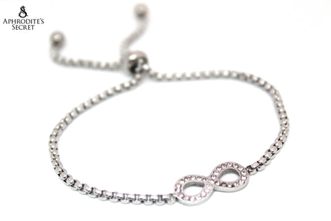 Aphrodite's Secret High Quality Sliding Clasp Bracelet Infinity Design (Pandora Inspired) Stainless Steel