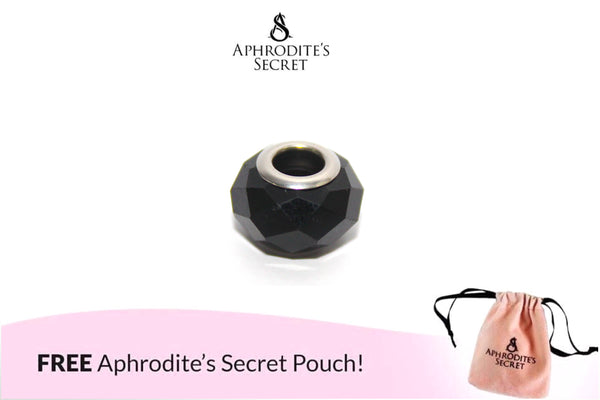 Aphrodite's Secret High Quality Glass Bead Solid Color (Pandora Inspired) Stainless Steel (Black)