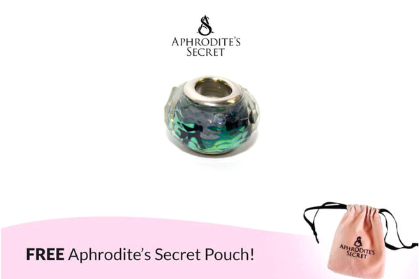 Aphrodite's Secret High Quality Murano Glass Bead (Pandora Inspired) Stainless Steel (Green)