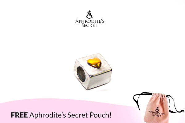 Aphrodite's Secret High Quality Gold Heart Charm Bead (Pandora Inspired) Stainless Steel