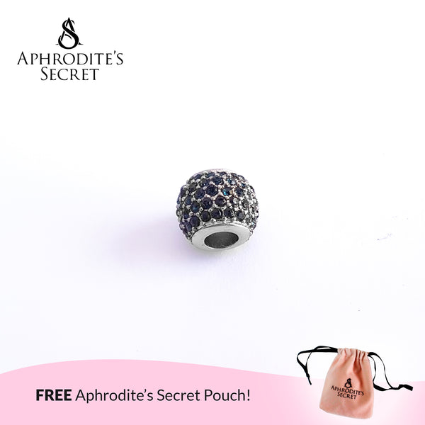 Aphrodite's Secret High Quality Blue Pave Lights Charm Bead (Pandora Inspired) Stainless Steel