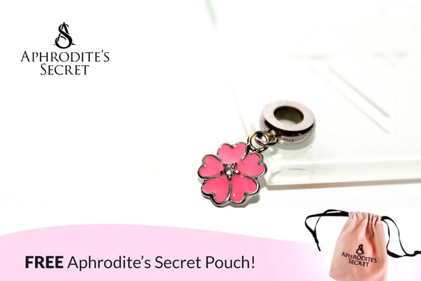 Aphrodite's Secret High Quality Pink Flower Charm Bead (Pandora Inspired) Stainless Steel