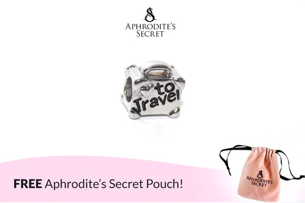 Aphrodite's Secret High Quality To Travel Charm Bead (Pandora Inspired) Stainless Steal