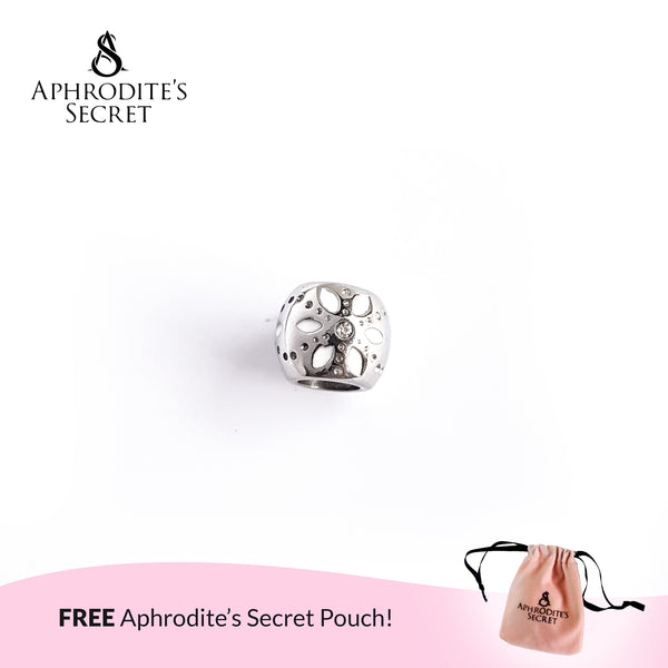Aphrodite's Secret High Quality Floral White Charm Bead (Pandora Inspired) Stainless Steel