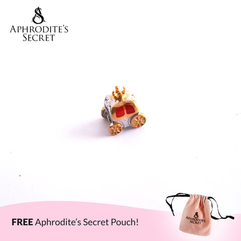 Aphrodite's Secret High Quality  Royal Carriage Charm Bead (Pandora Inspired) Stainless Steel  (Silver+Gold)