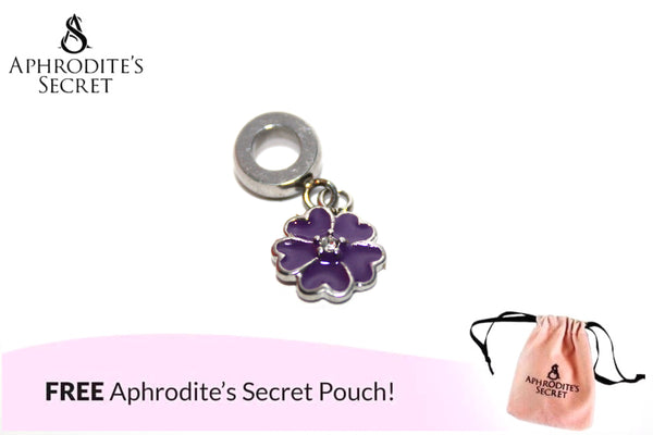 Aphrodite's Secret High Quality Floral Purple Charm Bead (Pandora Inspired) Stainless Steel