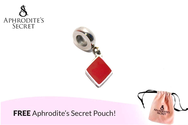 Aphrodite's Secret High Quality Diamond Cut Charm Bead (Pandora Inspired) Stainless Steel (Red)