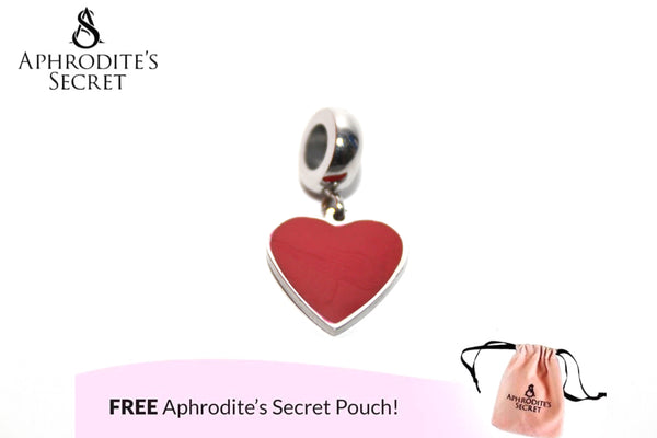 Aphrodite's Secret High Quality Heart Red Charm Bead (Pandora Inspired) Stainless Steel
