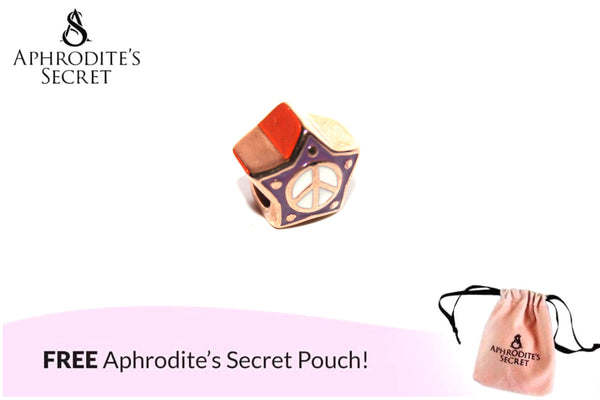 Aphrodite's Secret High Quality Gold Star Charm Bead (Pandora Inspired) Stainless Steel (Purple)