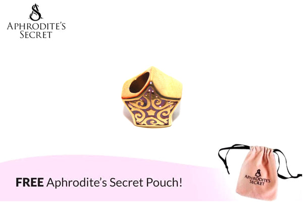 Aphrodite's Secret High Quality Gold Star Charm Bead (Pandora Inspired) Stainless Steel