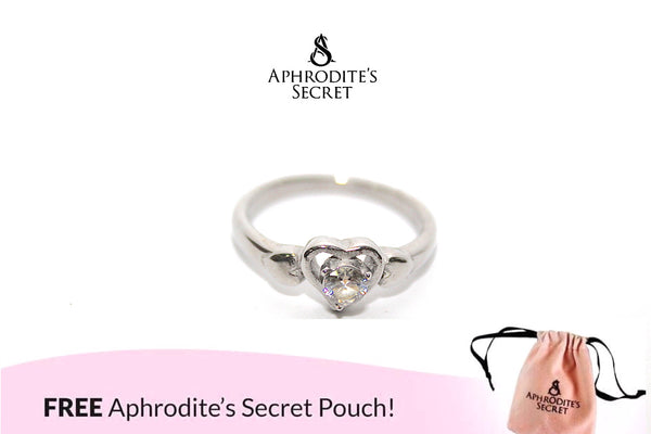 Aphrodite's Secret High Quality Stainless Steel Heart Gemstone  design Ring