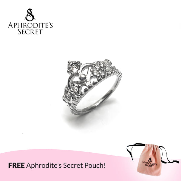 Aphrodite's Secret High Quality Stainless Steel Elegant Crown Design Ring