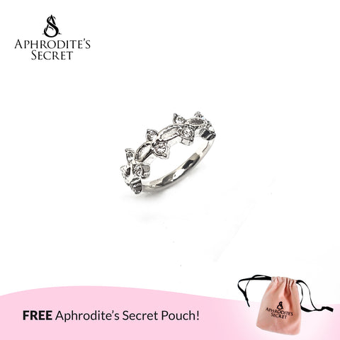 Aphrodite's Secret High Quality Stainless Steel Tiara Crown Design Ring
