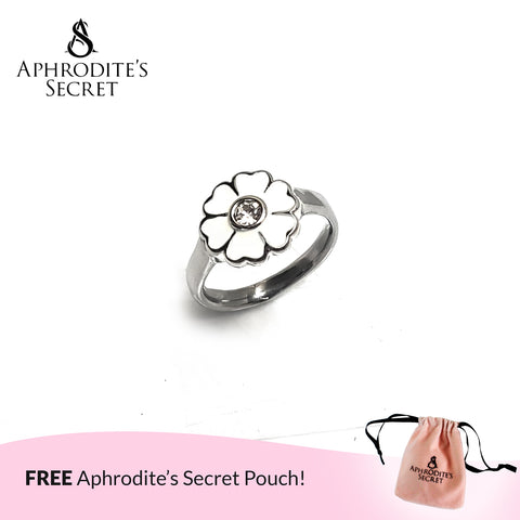 Aphrodite's Secret High Quality Stainless Steel Daisy Flower Petals Design Ring