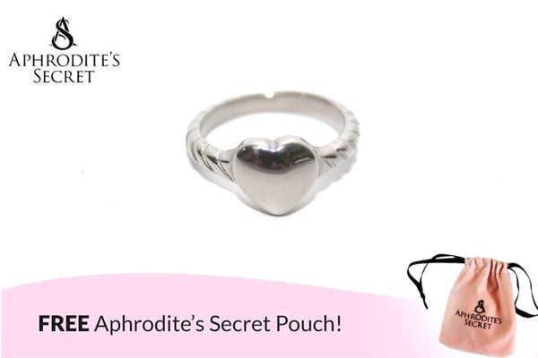 Aphrodite's Secret High Quality Stainless Steel Knotted Heart Design Ring