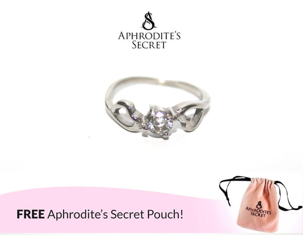 Aphrodite's Secret High Quality Stainless Steel Studded Two Hearts design Ring