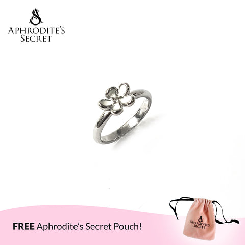 Aphrodite's Secret High Quality Stainless Steel White Daisy Flower Protruded design Ring