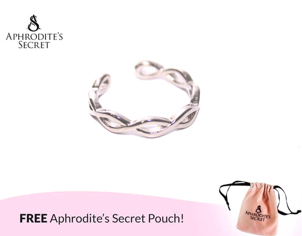 Aphrodite's Secret High Quality Stainless Steel Chain Design Ring