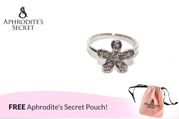 Aphrodite's Secret High Quality Stainless Studded Flower Petals Design  Ring