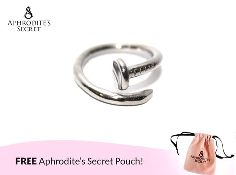 Aphrodite's Secret High Quality Stainless Steel Nail Design  Ring