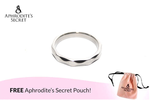 Aphrodite's Secret High Quality Stainless Steel Classic Diamond Cut Design  Ring