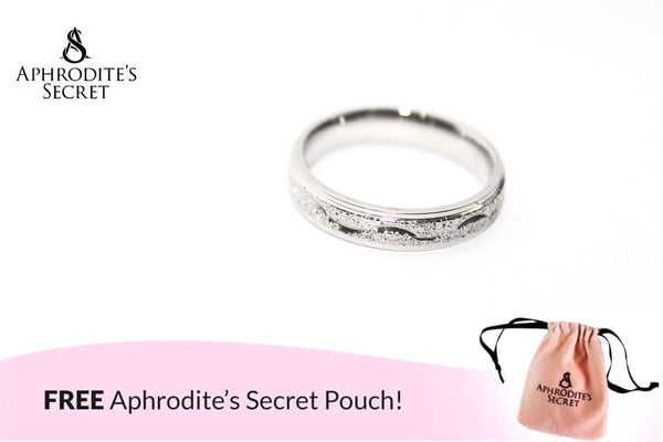 Aphrodite's Secret High Quality Stainless Steel  Plain Silver Engraved Wave Line Design Ring