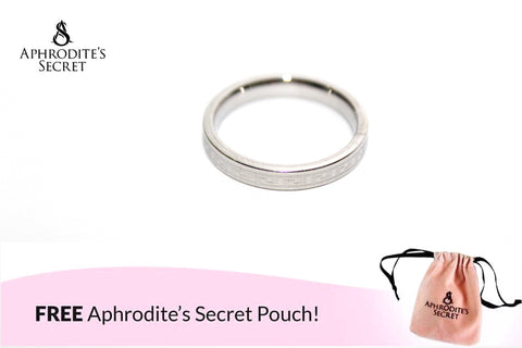 Aphrodite's Secret High Quality Stainless Steel  Engraved Link  Chain Plain Design Ring