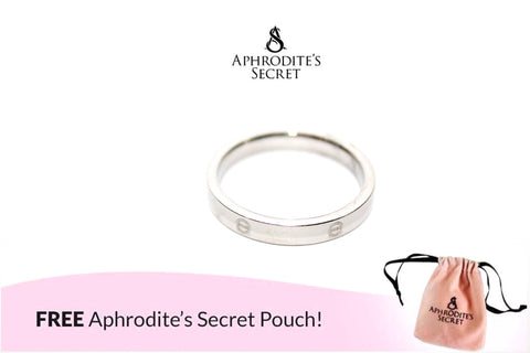 Aphrodite's Secret High Quality Stainless Steel  Elegant Silver Plain Design Ring