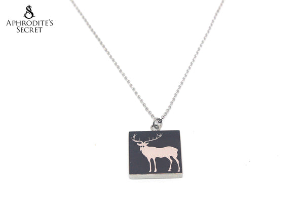 Aphrodite's Secret Stainless Steel High Quality Necklace  Reindeer black Design