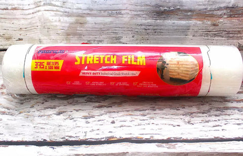 1 PC Stretch Film Heavy Duty Industrial Grade 375 Meters x 50 mm x 3 inches core