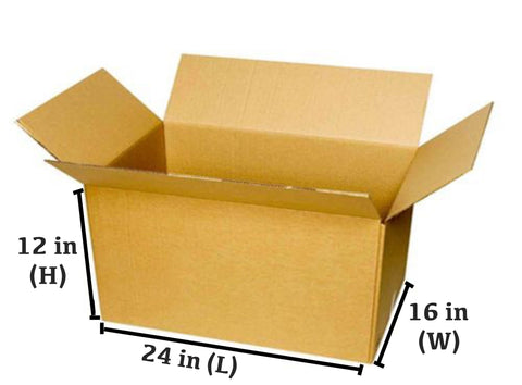 10 PCS CORRUGATED BOX (61 x 40.6 x 30.5 CM)