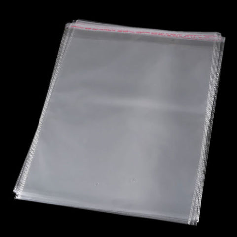 100 PCS Transparent Plastic OPP Bag + Self Adhesive Seal