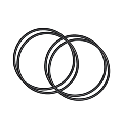 Rubber O-Ring	by 4's	125x3.1