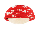 High Quality Dog Comforter Snowflake Design (Red)