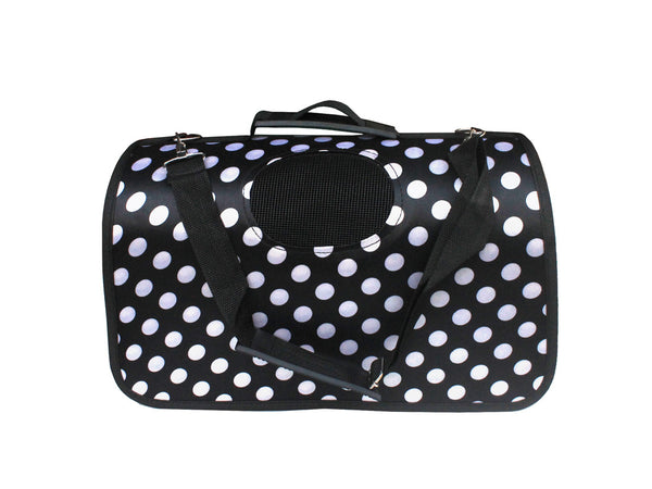 High Quality Big Dog  Foldable Carrier Polka Dots design