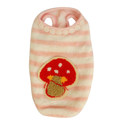 High Quality Dog Clothes Velvet Fabric Mushroom design (Pink)