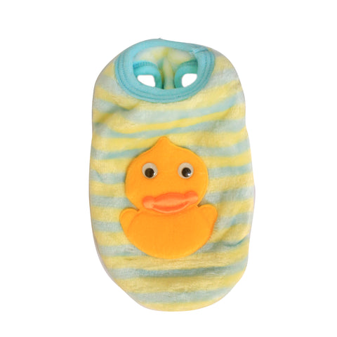 High Quality Dog Clothes Velvet Fabric Duck Design (Light Blue)