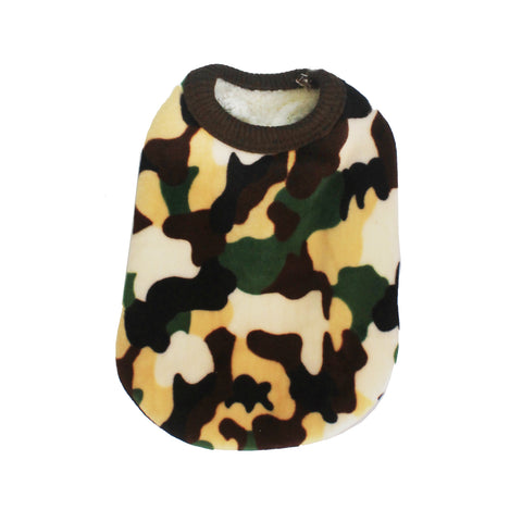 High Quality Dog Clothes Fleece Fabric Camouflaged Design Extra Small