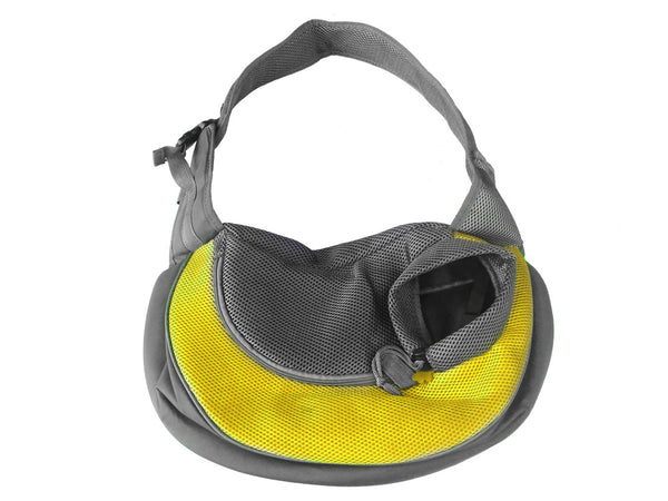 High Quality Dog Carrier Shoulder Sling bag Mickey KeyChain (Yellow+Gray)