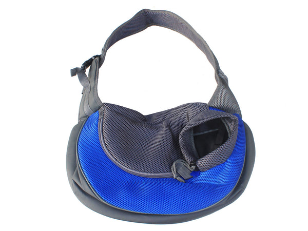 High Quality Dog Carrier Shoulder Sling bag Mickey Keychain (Blue+Gray)