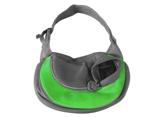High Quality Dog Carrier Shoulder Sling bag Mickey Keychain (Green+Gray)