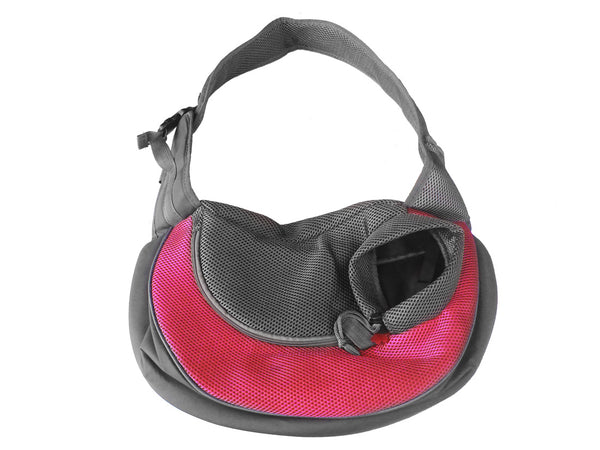 High Quality Dog Carrier Shoulder Sling Mickey Keychain (Fuschia Pink+Gray)