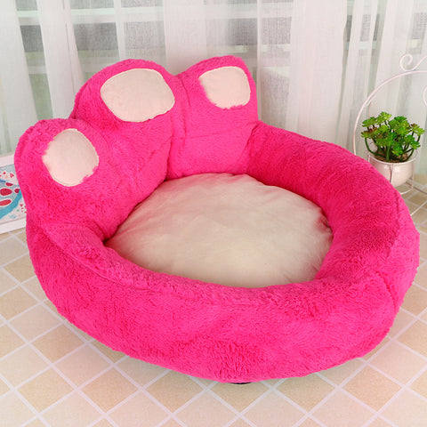 High Quality Dog Paw Shaped Design Round Bed (Large) 60x70x30cm