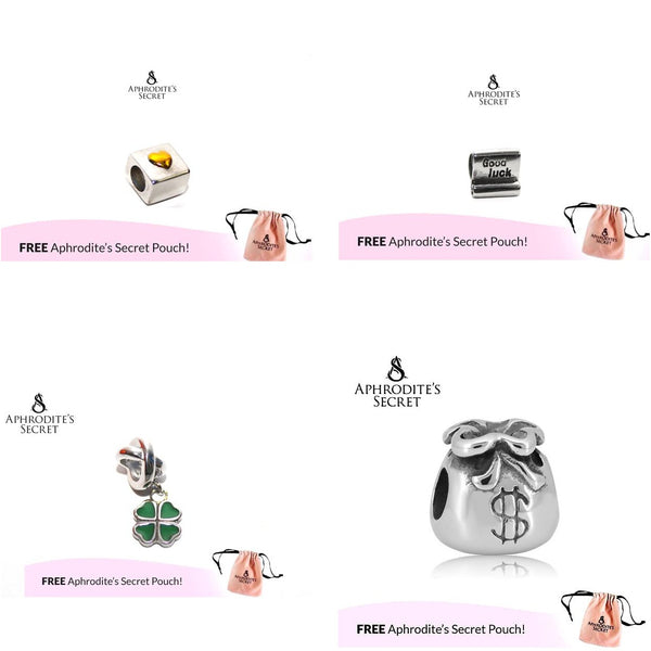 4 PCS - Aphrodite's Secret High Quality Charms/ Beads (Pandora Inspired) Stainless Steel