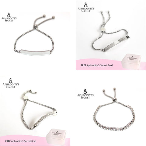 4 PCS - Aphrodite's Secret High Quality Sliding Clasp Bracelet Design (Pandora Inspired) Stainless Steel