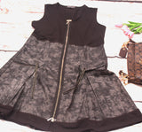 High Quality Women Dress Sleveless Denim  design Plus Size (Black)