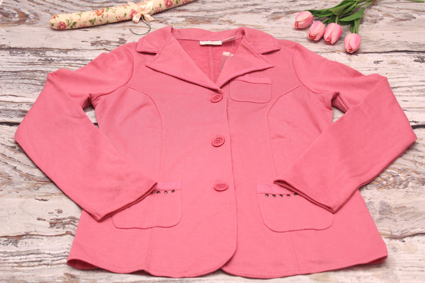 High Quality  European Style Women Coat Jacket (Pink)