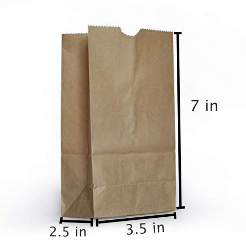 25 PCS Brown Kraft Paper Food Party Bags