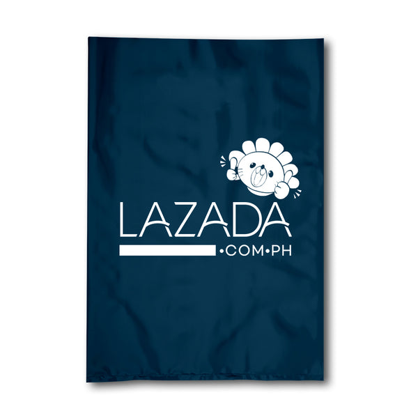 100 PCS (24 x 39 CM) LAZADA PLASTIC COURIER PARCEL BAG WITH POCKET / POUCH (MEDIUM)