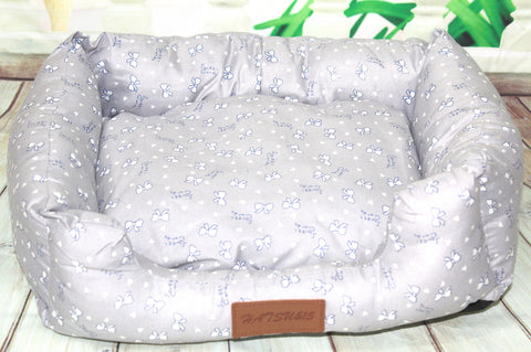 High Quality Small Bed Pet Dog Cat Printed Design Cotton Filling
